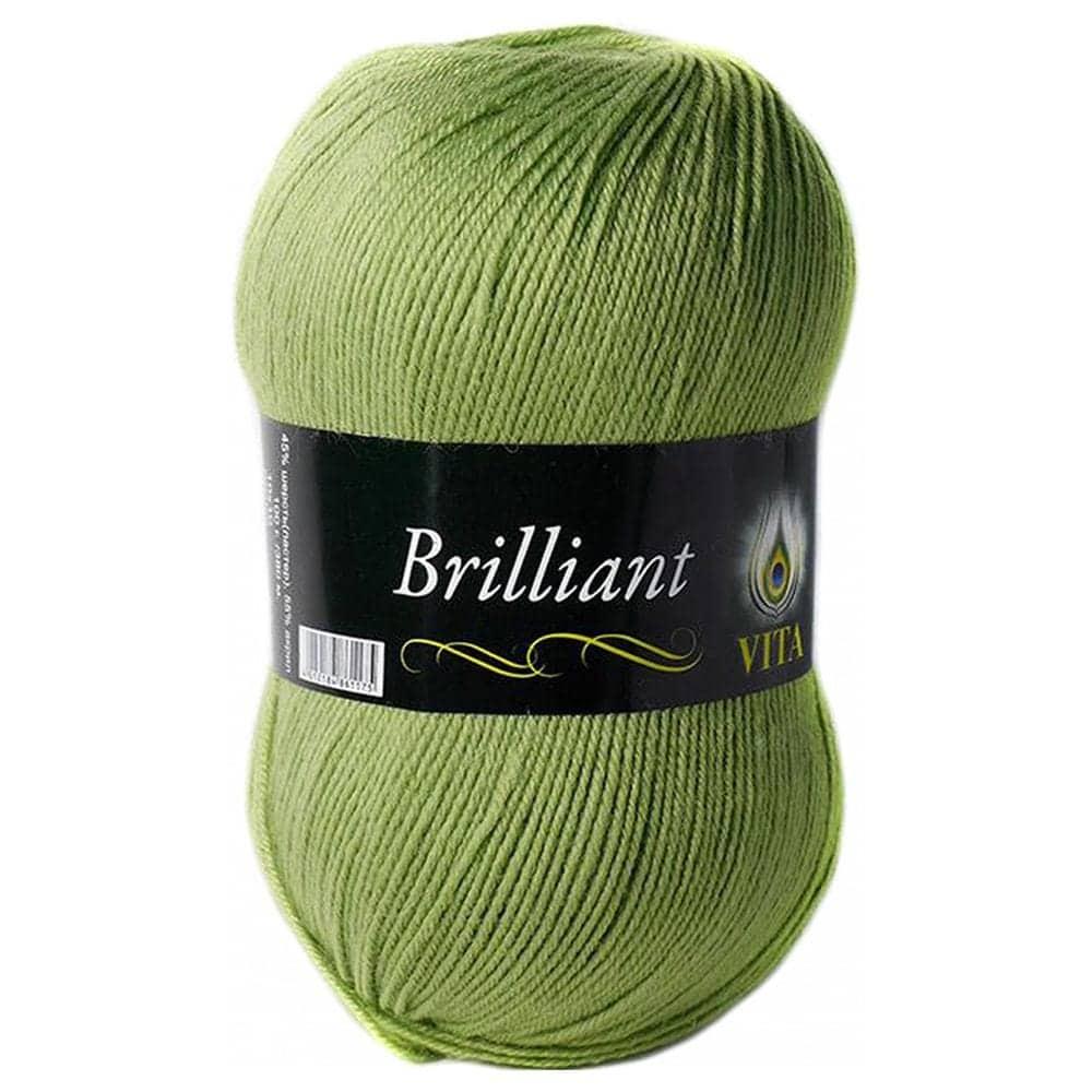 Vita. Бриллиант (Brilliant) пряжа для ручного вязания  (5110 свежая зелень) 690757 МТ - цена, отзывы, купить в интернет-магазине Гилмаркет